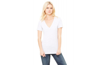 Bella B6035 Ladies Jersey Deep V-Neck