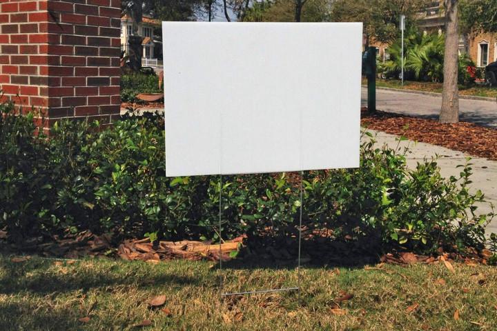 Blank White Yard Signs