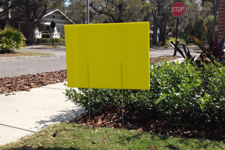 Blank Yellow Yard SIgns